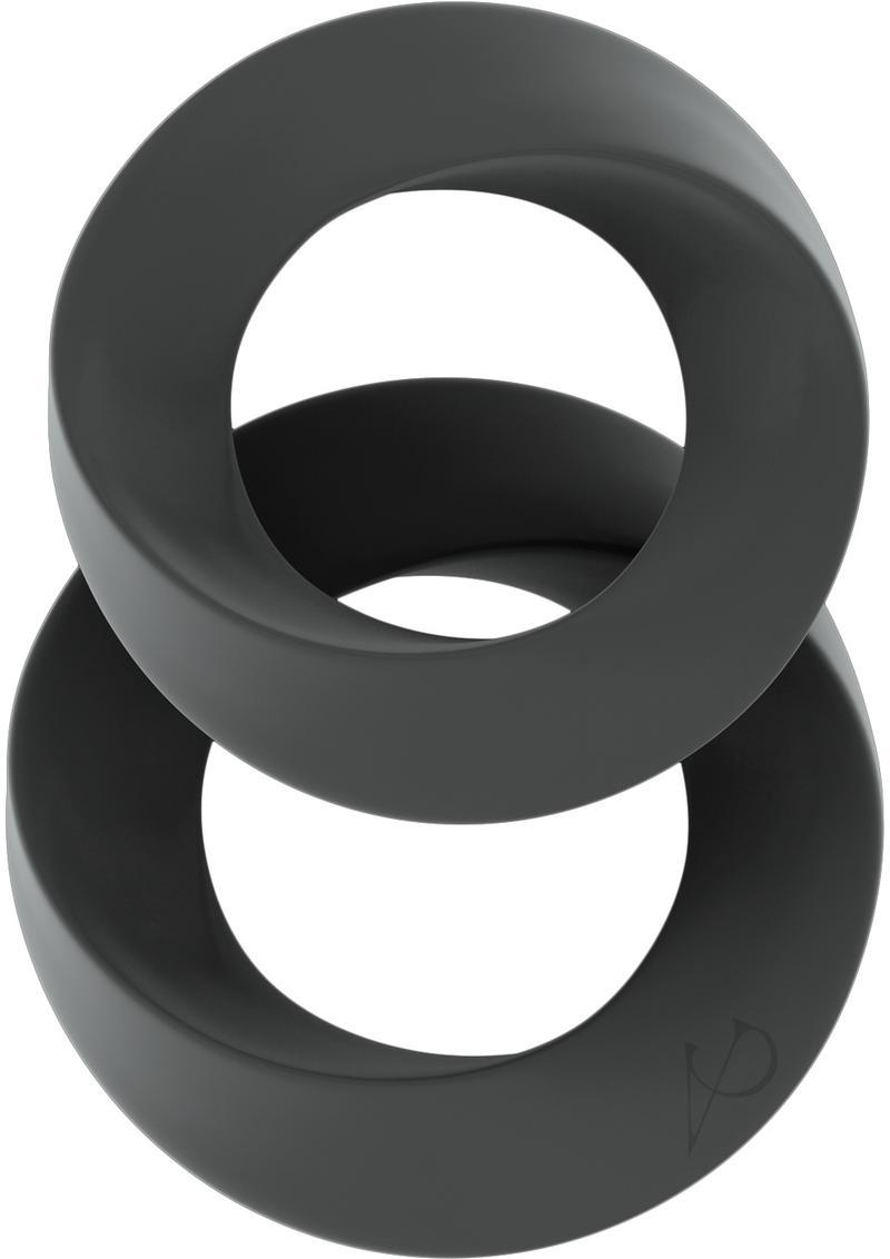 Sono No 24 Silicone Cock Ring Set Grey